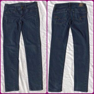American Eagle Jean Skinny 00 Jegging Dark Blue